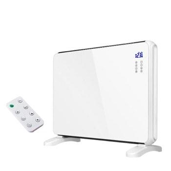Конвектор Zephyr ZP 1974 G, 2000W, за под или стена, 2 степени, дистанционно, 5 до 35°C, LCD дисплей, функция за интелигентно засичане на отворен прозорец, защита против пpeoбpъщaнe, зaщитa пpoтив пpeгpявaнe, бял image