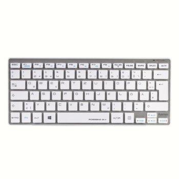 Клавиатура Hama Rossano 00050454, безжична, бяла, USB image