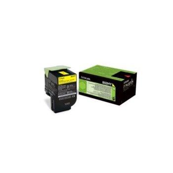 Касета за Lexmark CX410de/CX410e/CX410dte/CX510dhe/CX510de/CX510dthe - Yellow - P№ 80C2HYE - 3 000K image