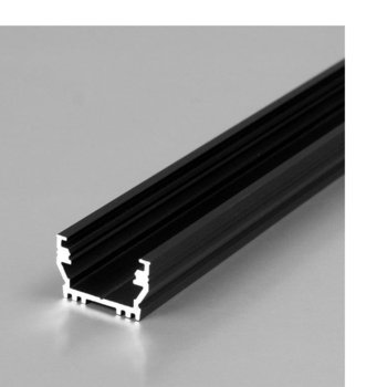 LED алуминиев профил UNI12-BLACK, 12.2 x 7mm, 2m дължина, за ленти до 12mm image