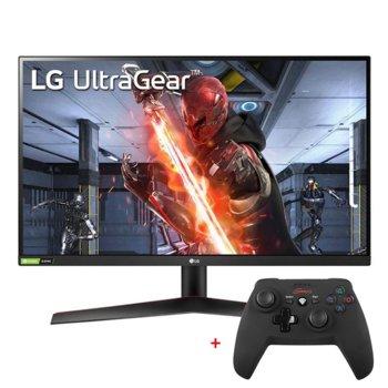 "Монитор LG UltraGear 27GN600-B с подарък геймпад Genesis Wireless PV58, 27"" (68.58 cm) IPS панел, 144Hz, HDR, FHD, 1ms, 350cd/m2, DisplayPort, HDMI image"