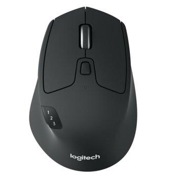 Мишка Logitech M720 Triathlon, оптична (1000 dpi), безжична, USB, черна image