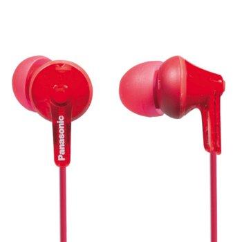 """Слушалки Panasonic RP-HJE125E, тип """"тапи"""", червени image"""