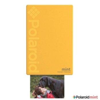 Мобилен принтер Polaroid Mint, цветен термичен фотопринтер, Bluetooth, A2 формат, Bluetooth, Zero Ink технология, micro USB, жълт image
