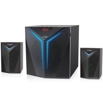Тонколони Fenda F&D F560X, 2.1 56W(2x14W + 28W), Bluetooth, NFC, USB, LED дисплей, FM радио, черни image