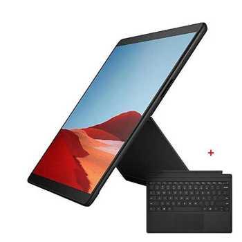 "Таблет Microsoft Surface Pro X (MJX-00003)(черен) с подарък клавиатура Microsoft, 12.3"" (31.24 cm) PixelSense дисплей, осмоядрен Microsoft SQ1 4x 3.00GHz + 4x 1.80GHz, 8GB RAM, 128GB SSD (+ microSDXC слот), 10.0 & 5.0 Mpix камера, Windows 10 Home image"