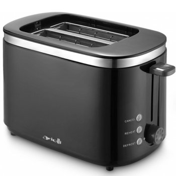 Тостер Arielli AET-8160BL, 7 степени, функция претопляне, функция размразяване, 750W, черен image