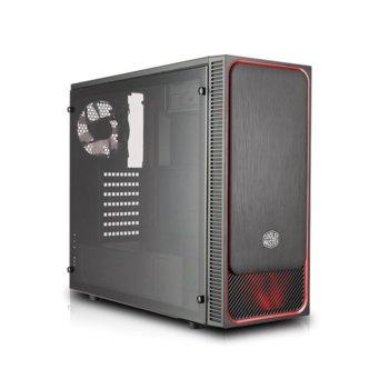 Кутия Cooler Master MasterBox E500L RED, ATX, Micro ATX, Mini ITX, 2x USB 3.0, черна, без захранване image
