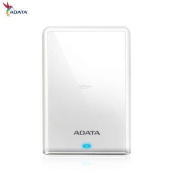 """Твърд диск 1TB A-Data HV620S (бял), външен, 2.5"""" (6.35 cm), USB 3.1 image"""