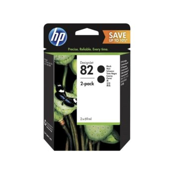 Мастило за HP Designjet 111 610; 510 1067 - Black - 82 Double Pack- P№ P2V34A - 69ml image