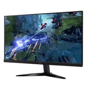 """Монитор Acer KG251Qbmiix (UM.KX1EE.002), 24.5"""" (62.23 cm) TN панел, Full HD, 1ms, 100 000 000:1, 250cd/m2, HDMI, VGA image"""