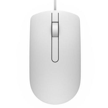 Мишка Dell MS116, оптична (1000 dpi), USB, бяла image