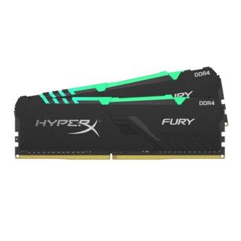 Памет 16GB (2x 8GB) DDR4, 2666Mhz, Kingston HyperX Fury RGB, HX426C16FB3AK2/16, 1.2 V image