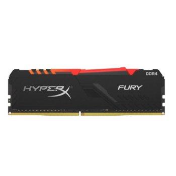 Памет 8GB DDR4, 3600MHz, Kingston HyperX Fury RGB HX436C17FB3A/8, 1.35 V image
