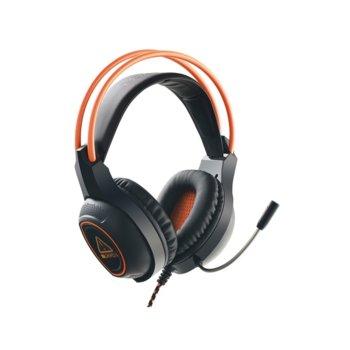 Слушалки Canyon CND-SGHS7, микрофон, гейминг, USB конектор, черни/оранжеви image