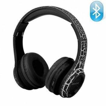 Слушалки MS-992A Black, безжични, 3.5 мм жак за жична връзка, Bluetooth, вход за SD карта, FM радио, MP3 плейър, микрофон, черни image
