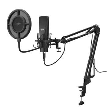 Микрофон Hama uRage Stream 800 HD Studio, USB, настолен, гейминг, 2.5 м кабел, черен image