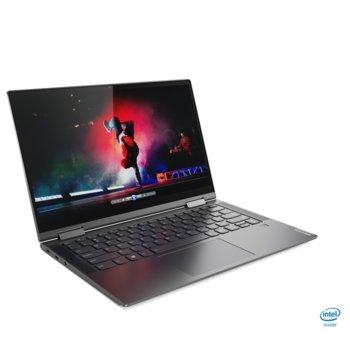 """Лаптоп Lenovo Yoga C740-14IML (81TC002NBM)(сив), четириядрен Comet Lake Intel Core i7-10510U 1.8/4.9 GHz, 14.0"""" (35.56 cm) Full HD IPS Touchscreen Display, (HDMI), 16GB DDR4, 1TB SSD, 2x USB 3.1 Type-C, Windows 10 Home image"""