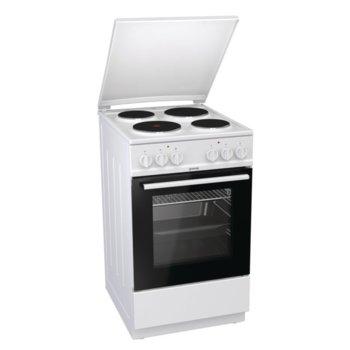 Готварска печка Gorenje E5141WH, клас A, 70 л. обем на фурната, 4 нагревателни зони, AquaClean почистване, бял image
