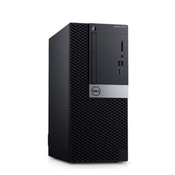 Настолен компютър Dell OptiPlex 5070 MT (N007O5070MT_WIN-14), шестядрен Coffee Lake Intel Core i5-9500 3.0/4.4 GHz, 8GB DDR4, 256GB SSD, 1x USB 3.1 Type-C, клавиатура и мишка, Windows 10 Pro image
