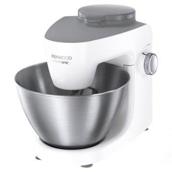 Кухненски робот Kenwood MultiOne KHH300WH, 1000W, 3 вида бъркалки, предпазител против пръски, бял image