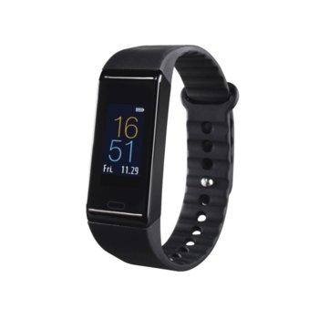 "Смарт часовник Hama Fit Track 390, 0.96"" (2.43 cm) OLED дисплей, Bluetooth, водоустойчив IP67, педометър, черен image"