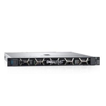 Сървър Dell EMC PowerEdge R240 (PER240WCISM02), четириядрен Coffee Lake Intel Xeon E-2224 3.4/4.6 GHz, 16GB DDR4 UDIMM, 1000GB HDD, 2x 1GbE, без ОС, 1x 450W PSU image