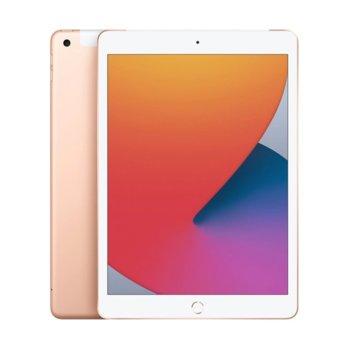 "Таблет Apple iPad 8 Wi-Fi (MYLF2HC/A)(златист), 10.2"" (25.90 cm) IPS Multi-Touch дисплей, шестядрен A12 Bionic, 3GB RAM, 128GB Flash памет, 8.0 & 1.2 MPix камера, Ipad OS image"