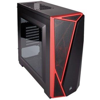 Кутия Corsair Carbide Series SPEC-04, ATX/mATX/Mini-ITX, 1x USB 3.0, страничен прозорец, черна, без захранване image