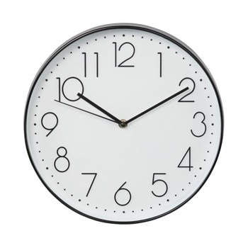 Часовник Hama Elegance 186389, аналогово указание, стенен, ниско ниво на шум, бял image