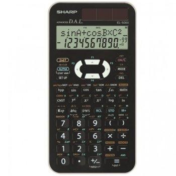 Калкулатор SHARP EL-506X-WH НАУЧЕН 469F, 10 разряден двуредов дисплей, черен image