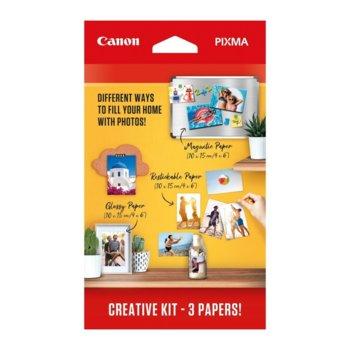 Фотохартия Canon Paper Creative Kit 2, 10 x 15 cm, 3 листа image