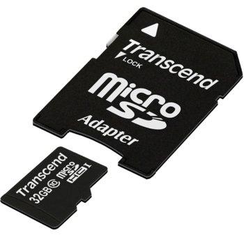 32GB microSDHC Transcend Premium SD adapter product