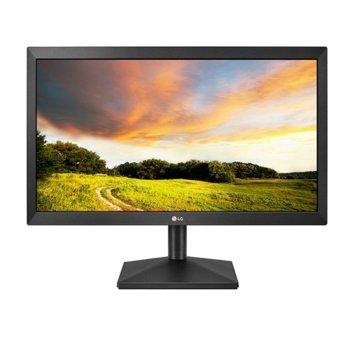 """Монитор LG 20MK400H-B, 19.5"""" (49.53 cm), TN панел, WXGA 1366x768, 2ms, 600:1, 200cd/m2, HDMI, VGA image"""