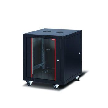 """Комуникационен шкаф Formrack SLV-12U6080/BTA-12U6080, 19"""", 12U, 600 x 800 mm, черен image"""