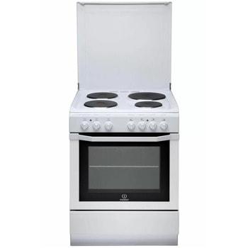 Готварска печка Indesit I6E6C1AE(W)/FR, 4 нагревателни зони, 59л. обем, 2800 W, бяла image