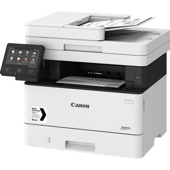 Мултифункционално лазерно устройство Canon i-SENSYS MF445dw, монохромен принтер/копир/скенер/факс, 600 x 600 dpi, 38 стр./мин, USB, LAN, Wi-Fi, A4 image