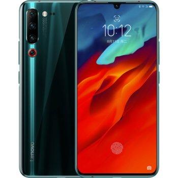 """Смартфон Lenovo Z6 Pro PAEF0031CN (син/зелен), поддържа 2 sim карти, 6.39"""" (16.23 cm) Super AMOLED дисплей, осемядрен Snapdradragon 855 2.84 GHz, 8GB RAM, 128GB Flash памет (+ microSD слот), 48 + 8 + 16 + 2 MPix & 32 MPix, Android, 185g image"""