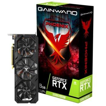 Видео карта nVidia GeForce RTX 2080 SUPER, 8GB, Gainward Phoenix, PCI-E 3.0, GDDR6, 256-bit, DisplayPort image
