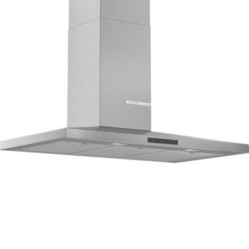 Абсорбатор Bosch DWQ96DM50, за вграждане, колонен, енергиен клас A, 3 степени на мощност, два режима на работа, въздухопоток 610 m3/h, инокс image