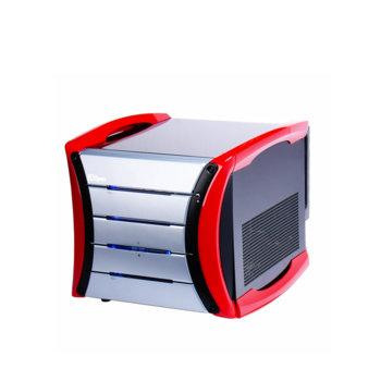 Кутия AOpen G325, microATX, 2x USB, черна/червена, без захранване image