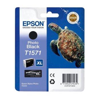 ГЛАВА ЗА EPSON STYLUS PHOTO R3000 - Photo Black - P№ C13T15714010 - заб.: 25.9ml. image