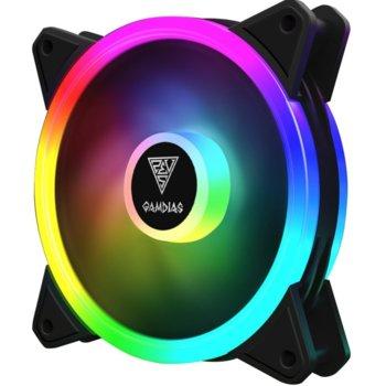 Вентилатор 120mm Gamdias AEOLUS M2-1201, 4-pin, 1200 rpm, RGB подсветка image
