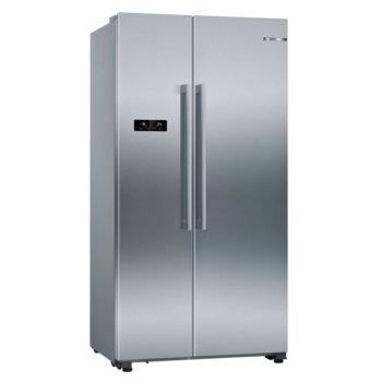 Хладилник с фризер Bosch KAN93VIFP SER4, клас A++, 616 л. общ обем, свободностоящ, 363 kWh/годишно, Multi Airflow система, инокс image