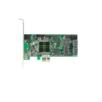 RAID Kонтролер Areca ARC-1200, PCI-E x1 към SATA 3Gb/s, 2 портов, 128MB, поддържа RAID 0, 1, Single Disk and JBOD image