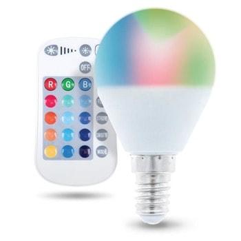 LED крушка Forever RTV003566, E14, G45, 5W, 250 lm, 3000K, RGB, дистанционно image