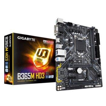 Дънна платка Gigabyte B365M-HD3, LGA1151, B365, DDR4, PCI-Е (HDMI&DVI&VGA)(CF), 6x SATA 6Gb/s, 1x M.2, 6x USB 3.1, micro ATX image