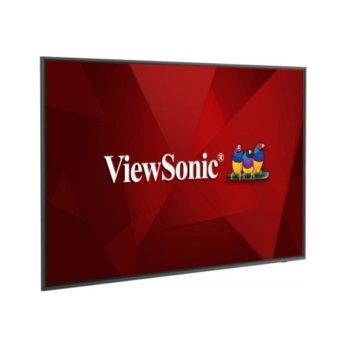 "Публичен дисплей ViewSonic CDE6520, 65"" (165.1 cm) 4K/UHD LED панел, DisplayPort, HDMI, VGA, LAN image"