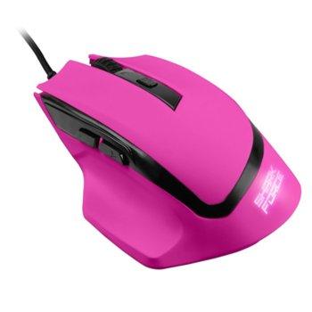 Мишка Sharkoon SHARK Force, оптична (1600 dpi), 6 бутона, подсветка, USB, розова image