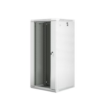 "Комуникационен шкаф Lanberg WF01-6627-10S, 19"", 27U, 600 x 600 x 1307 mm, сив image"